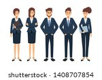 group of business people... | Shutterstock .eps vector #1408707854