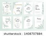 wedding invitation modern card... | Shutterstock .eps vector #1408707884