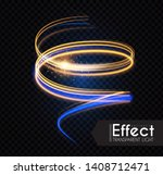 moion light effect. lens flare. ... | Shutterstock .eps vector #1408712471