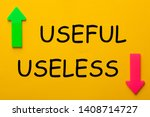 useful and useless text with... | Shutterstock . vector #1408714727