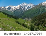 beautiful mountain landscape of ... | Shutterstock . vector #1408717094
