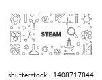 steam vector concept minimal... | Shutterstock .eps vector #1408717844