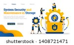 system security and maintenance ... | Shutterstock .eps vector #1408721471