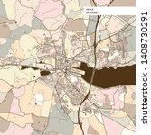 vejle denmark art map print... | Shutterstock .eps vector #1408730291