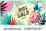 hot summer sale illustration...   Shutterstock .eps vector #1408732457