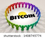 bitcoin cryptocurrency digital...   Shutterstock . vector #1408745774