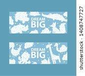 cloud animals pattern vector...   Shutterstock .eps vector #1408747727