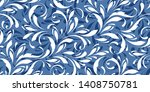 decorative floral pattern with... | Shutterstock .eps vector #1408750781