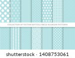 collection of cute polka dot... | Shutterstock .eps vector #1408753061