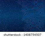 high tech technology blue... | Shutterstock .eps vector #1408754507