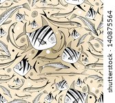 graphic seamless pattern with... | Shutterstock .eps vector #140875564