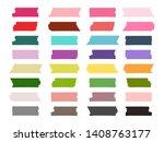mini washi tape strips colorful ... | Shutterstock .eps vector #1408763177