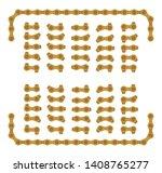 golden roller chain that used... | Shutterstock .eps vector #1408765277