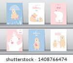set of happy father's day card  ...   Shutterstock .eps vector #1408766474