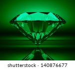 green emerald on abstract... | Shutterstock . vector #140876677