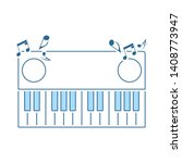 piano keyboard icon. thin line...
