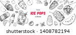 popsicle ice cream  hand drawn... | Shutterstock .eps vector #1408782194