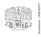 i can and i will  inspiring... | Shutterstock .eps vector #1408782977