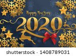 merry christmas greetings and... | Shutterstock .eps vector #1408789031