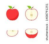 set of fruits. summer fruit... | Shutterstock .eps vector #1408791251