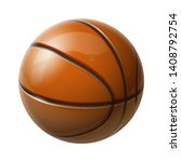 3d realistic shiny basketball...