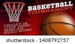 basketball modern sports poster ... | Shutterstock .eps vector #1408792757