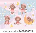 set of baby bears. digital ...   Shutterstock .eps vector #1408808591