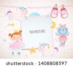 holiday card design with a...   Shutterstock .eps vector #1408808597