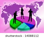 business team on a graphic as... | Shutterstock . vector #14088112