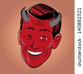 Winking Cartoon Devil