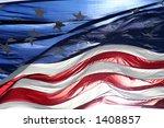 Old Glory American Flag In Wind