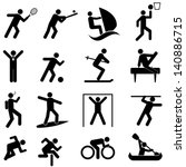 sports and athletics icon set | Shutterstock .eps vector #140886715