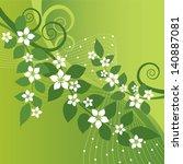 beautiful jasmine flowers and... | Shutterstock .eps vector #140887081