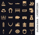 wealth icons set. simple set of ... | Shutterstock .eps vector #1408892384