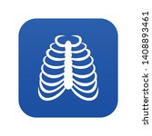 rib cage icon digital blue for...   Shutterstock .eps vector #1408893461