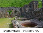 Ruins in Annaberg sugar plantation in Virgin Islands National Park at Saint John Island, US Virgin Islands, USA.