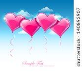 vector illustration of heart... | Shutterstock .eps vector #140892907
