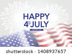 4th of july american holiday | Shutterstock .eps vector #1408937657