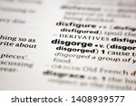 Small photo of Word or phrase disgorge in a dictionary.