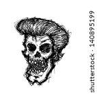grunge zombie head | Shutterstock .eps vector #140895199