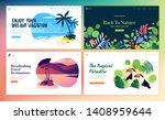 set of flat design web page... | Shutterstock .eps vector #1408959644