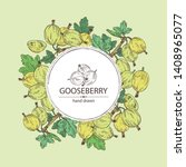 background with gooseberry ... | Shutterstock .eps vector #1408965077