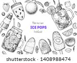 popsicle ice cream  hand drawn... | Shutterstock .eps vector #1408988474