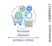 purchase decision concept icon. ... | Shutterstock .eps vector #1408990217