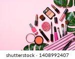makeup professional cosmetics... | Shutterstock . vector #1408992407