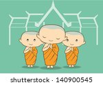 asian,beg,buddha,buddhism,cartoon,cheerful,chinese,clothing,culture,cute,east,ethnicity,green,illustration,light