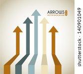 arrows infographics over white... | Shutterstock .eps vector #140901049