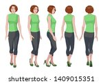 five vector images of a turning ... | Shutterstock .eps vector #1409015351