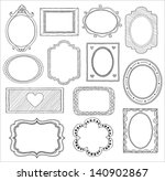 hand drawn doodle frame set | Shutterstock .eps vector #140902867