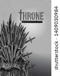 throne  hand drawn. antique...   Shutterstock .eps vector #1409030984